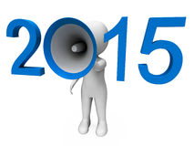 Two Thousand Fifteen Loud Hailer Shows Year 2015 Royalty Free Stock Image