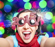 Two thousand and fifteen. New Years concept. Stock Photos