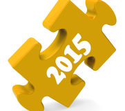 Two Thousand Fifteen On Puzzle Shows Year 2015. Two Thousand Fifteen On Puzzle Showing Year 2015 Royalty Free Stock Photo