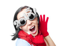 Two thousand fifteenth New Year sunglasses. Royalty Free Stock Photos