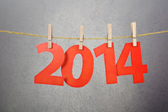 Two thousand fourteen New Year number decoration Stock Photos