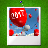Two Thousand Seventeen on Balloons Photo Shows Year 2017 Stock Images