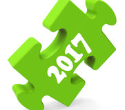 Two Thousand Seventeen On Puzzle Shows Year 2017. Two Thousand Seventeen On Puzzle Showing Year 2017 Stock Image