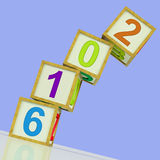 Two Thousand And Sixteen Blocks Show Year 2016 Stock Photos
