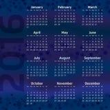 Two Thousand Sixteen Calendar Royalty Free Stock Photos