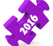 Two Thousand Sixteen On Puzzle Shows Year 2016. Two Thousand Sixteen On Puzzle Showing Year 2016 Stock Image