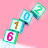 Two Thousand And Sixteen Word Show Year 2016. Two Thousand And Sixteen Word Showing Year 2016 Stock Images
