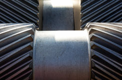 Two Threads of a cogwheel close up Stock Photography