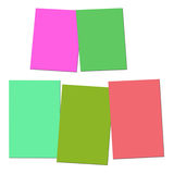 Two And Three Blank Paper Slips Show Copyspace For 2 Or 3 Letter Royalty Free Stock Photography