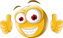 Two Thumb up emoticon for you design Stock Images