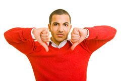 Two thumbs down Royalty Free Stock Photos