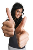 Two thumbs right Stock Photography