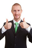 Two thumbs up Stock Image