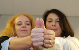 Two thumbs up Royalty Free Stock Photo