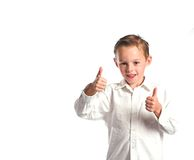 Two thumbs up Stock Photo