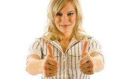 Two Thumbs Up! Stock Photo