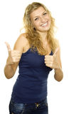Two Thumbs Up Stock Photos