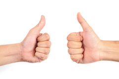 Two Thumbs Up Royalty Free Stock Photos