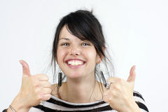 Two thumbs up Royalty Free Stock Photography
