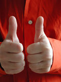Two Thumbs Up Stock Images