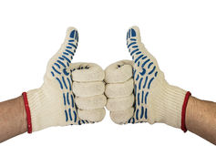 Two thumbs up  with white background Royalty Free Stock Photos