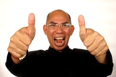 Two thumps up Stock Photo