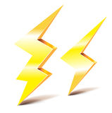 Two thunder lightning symbols Royalty Free Stock Photography