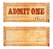 Two tickets 02. Two tickets isolated on white stock illustration