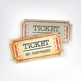 Two tickets. Royalty Free Stock Photo