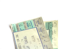 Two tickets Royalty Free Stock Photos