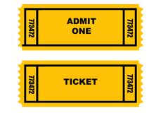 Two tickets Stock Image