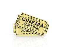 Two tickets for cinema. Royalty Free Stock Images