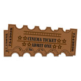 Two tickets to the cinema Stock Photo