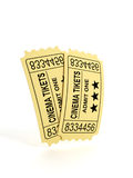 Two tickets to the movies Royalty Free Stock Photo