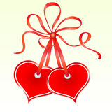 Two tied heart Royalty Free Stock Images