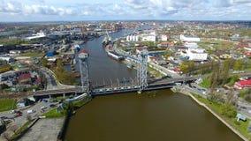 Two-tier bridge, Kaliningrad stock footage