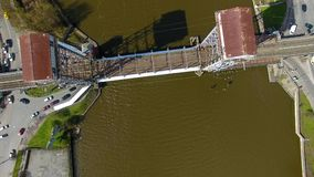 Two-tier bridge, Kaliningrad stock video