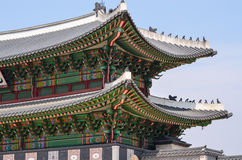 Two tier temple with korean style roof Stock Image