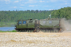 Two-tier tracked all-terrain vehicle Royalty Free Stock Photo