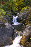 Two tier water fall. In nature trail Stock Photos
