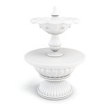 Two-tiered fountain on a white background. 3D render image Stock Image