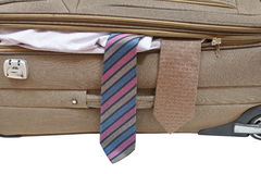Two ties from ajar suitcase Stock Photography