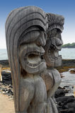 Two Tiki Gods Royalty Free Stock Photos