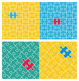 Two tilable puzzle patterns Stock Photos