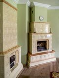Two tiled stoves Royalty Free Stock Images