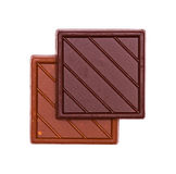 Two tiles of chocolate Royalty Free Stock Image
