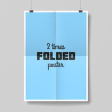 Two times folded poster. Template Royalty Free Stock Images
