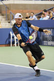 Two times Grand Slam Champion Lleyton Hewitt of Australia in action during his last US Open match Royalty Free Stock Images
