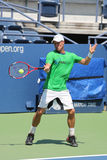 Two times Grand Slam Champion Lleyton Hewitt of Australia practices for US Open 2015 Royalty Free Stock Images