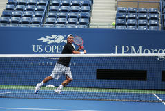 Two times Grand Slam champion Lleyton Hewitt practices for US Open 2013 Royalty Free Stock Photo